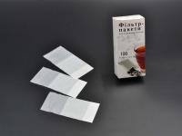 Фильтр-пакеты для зав.чая100шт13х6,5 НІ.КА \150 (біла коробка)