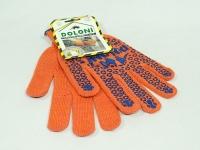 Перчатки ХБ 1п Doloni 526 оранжі \300