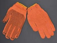 Перчатки ХБ оранжевые 1 пара\12 \600