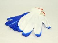 Перчатки ХБ стрейч-резина 24 пар Сині\40