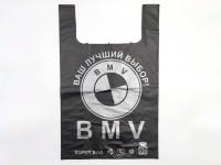 """Пакет """"BMW"""" (41*60) Екстра ПП 60 кг\100\500 чорний"""