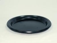 Тарілка 240/14 Чорна Плоска PREM (50 шт)