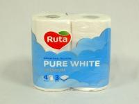 Туалетний папір РУТА Pure 3-х сл. Преміум Біла 4 шт\14