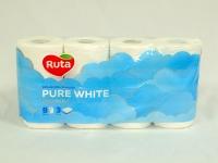 Туалетний папір РУТА Pure 3-х сл. Преміум Біла 8 шт\7