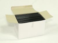 Трубочки Алко. Чорна б.Гофри в коробці 14см(1000)