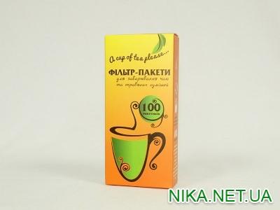 Фильтр-пакеты для зав.чая100шт13х6,5  \ 100 (Помаранчева коробка)