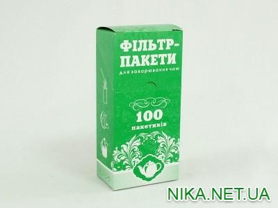 Фильтр-пакеты для зав.чая100шт13х6,5 НІ.КА \ 100 (зелена коробка)
